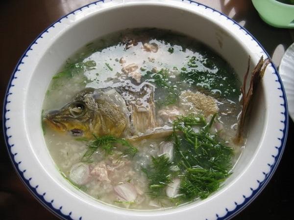 thực phẩm an thai - cháo cá